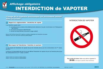 Affichage Interdiction De Vapoter Doc A Telecharger