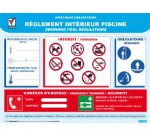 R glement int rieur piscine for Reglementation securite piscine